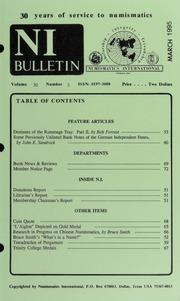 Numismatics International Bulletin, Vol. 30, No.3