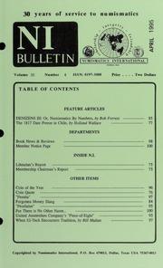 Numismatics International Bulletin, Vol. 30, No.4