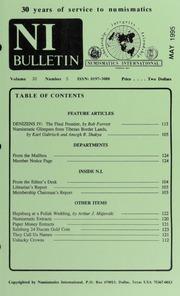 Numismatics International Bulletin, Vol. 30, No.5