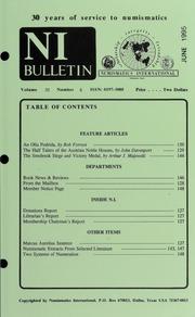 Numismatics International Bulletin, Vol. 30, No.6