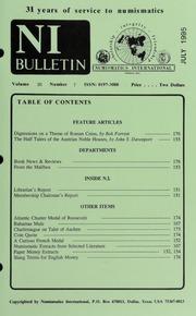 Numismatics International Bulletin, Vol. 30, No.7