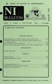 Numismatics International Bulletin, Vol. 30, No.8