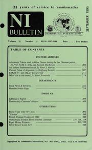 Numismatics International Bulletin, Vol. 30, No.9