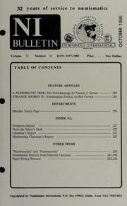 Numismatics International Bulletin, Vol. 31, No.10
