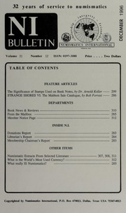 Numismatics International Bulletin, Vol. 31, No.12