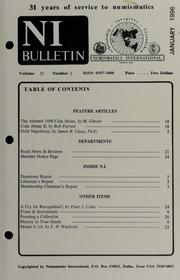 Numismatics International Bulletin, Vol. 31, No.1