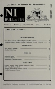 Numismatics International Bulletin, Vol. 31, No.2