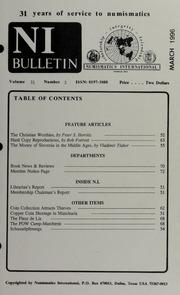Numismatics International Bulletin, Vol. 31, No.3