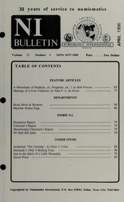 Numismatics International Bulletin, Vol. 31, No.4