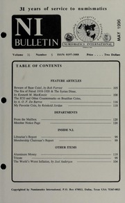 Numismatics International Bulletin, Vol. 31, No.5