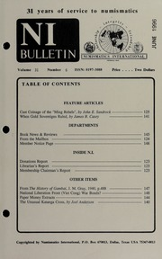 Numismatics International Bulletin, Vol. 31, No.6