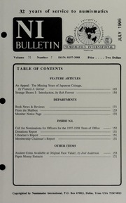 Numismatics International Bulletin, Vol. 31, No.7