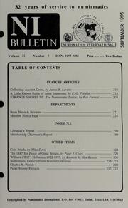 Numismatics International Bulletin, Vol. 31, No.9