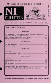 Numismatics International Bulletin, Vol. 32, No.10