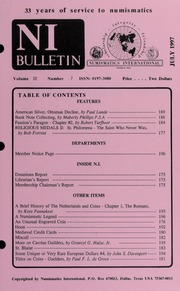 Numismatics International Bulletin, Vol. 32, No.7