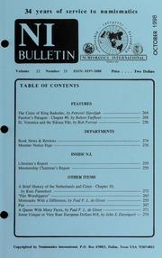 Numismatics International Bulletin, Vol. 33, No.10