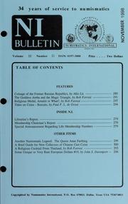 Numismatics International Bulletin, Vol. 33, No.11