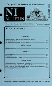 Numismatics International Bulletin, Vol. 33, No.12