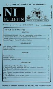 Numismatics International Bulletin, Vol. 33, No.1