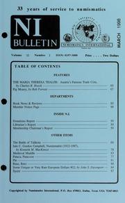 Numismatics International Bulletin, Vol. 33, No.3
