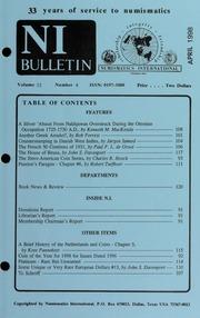 Numismatics International Bulletin, Vol. 33, No.4
