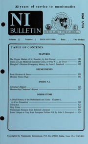 Numismatics International Bulletin, Vol. 33, No.5