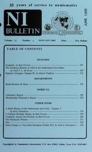 Numismatics International Bulletin, Vol. 33, No.6