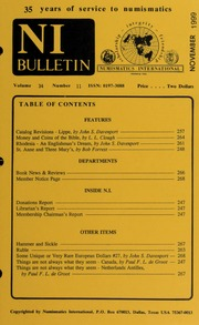 Numismatics International Bulletin, Vol. 34, No.11