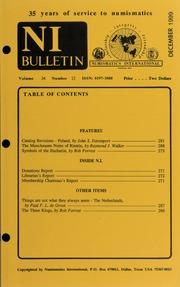 Numismatics International Bulletin, Vol. 34, No.12