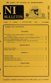 Numismatics International Bulletin, Vol. 34, No.1