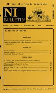 Numismatics International Bulletin, Vol. 34, No.2