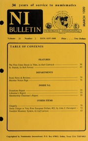Numismatics International Bulletin, Vol. 34, No.3