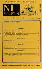 Numismatics International Bulletin, Vol. 34, No.4