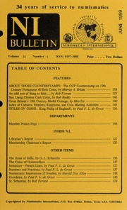 Numismatics International Bulletin, Vol. 34, No.6