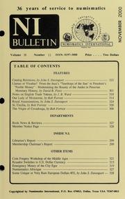 Numismatics International Bulletin, Vol. 35, No.11