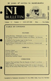 Numismatics International Bulletin, Vol. 35, No.2