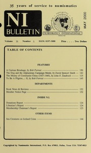 Numismatics International Bulletin, Vol. 35, No.5