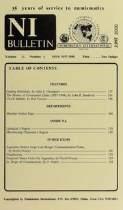 Numismatics International Bulletin, Vol. 35, No.6