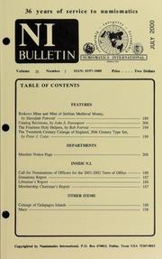 Numismatics International Bulletin, Vol. 35, No.7
