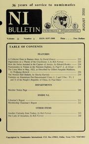 Numismatics International Bulletin, Vol. 35, No.8