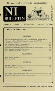 Numismatics International Bulletin, Vol. 35, No.9