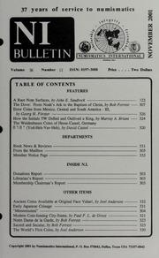 Numismatics International Bulletin, Vol. 36, No.11