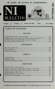 Numismatics International Bulletin, Vol. 36, No.12