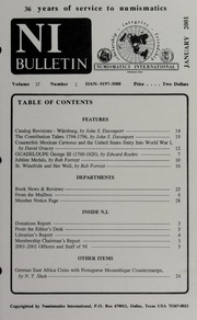 Numismatics International Bulletin, Vol. 36, No.1