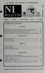 Numismatics International Bulletin, Vol. 36, No.2