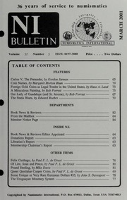 Numismatics International Bulletin, Vol. 36, No.3