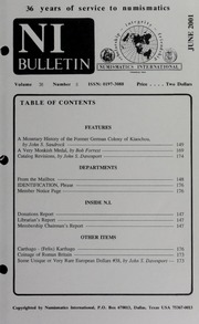 Numismatics International Bulletin, Vol. 36, No.6