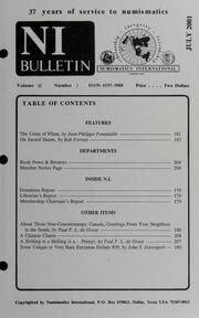 Numismatics International Bulletin, Vol. 36, No.7