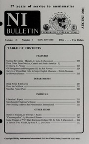 Numismatics International Bulletin, Vol. 36, No.8