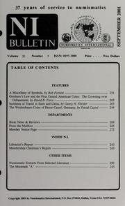 Numismatics International Bulletin, Vol. 36, No.9